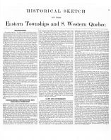 History Page 003, Eastern Townships and South Western Quebec 1881